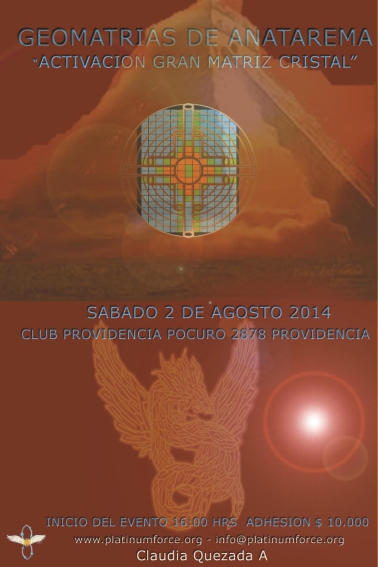 "Evento Geomatrias de Anatarema: ""Activación Gran Matriz Cristal"""